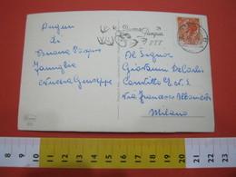 T1 ITALIA ANNULLO TARGHETTA - 1957 REGGIO CALABRIA BUONA PASQUA CAMPANE RONDINI BIRD - Pasqua