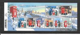 GB Christmas 2018 - Minisheet With 8 Stamps - Ordinary Gum - 1952-.... (Elizabeth II)