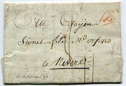 PARIS LAC  Du 24/06/1799 Taxée 8 Pour NEVERS - Marcophilie (Lettres)