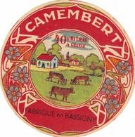 ETIQUETTE FROMAGE  CAMEMBERT -  LE BASSIGNY -  VACHE -    Fab En  HAUTE MARNE  52 - Cheese