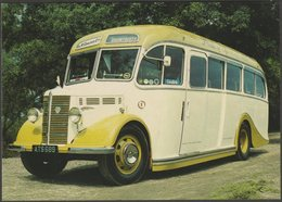 H & M Coaches Bedford-Duple No 1 At Great Haywood - After The Battle Postcard - Buses & Coaches