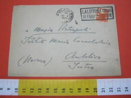 T1 ITALIA ANNULLO TARGHETTA - 1947 MILANO LOTTERIA ITALIA VII FARA' MILIONARI FR. DEMOCRATICA 4 LIRE - Giochi