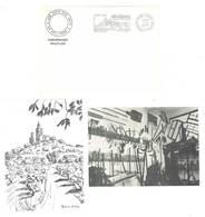 """2 CP Avec Flamme 1er Jour D'oblitération, Et Enveloppe  """" Les Amis Des Arts """", Reillanne, Correspondance Philatélique - France"""