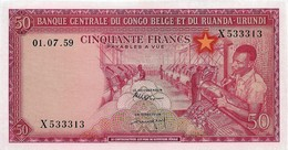 Belgian Congo 50 Francs 1959. UNC - [ 5] Congo Belge