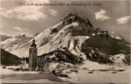 Lech 1438 M Mit Omeshorn (Vorarlberg) Im Winter (1866) - Lech