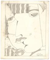 Maroc Dessin Abstrait. Artiste à Identifier. - Dessins