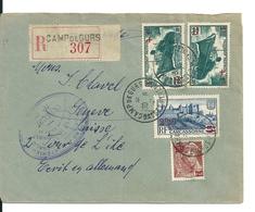 Lettre Recommandée Du Camp De Gurs/ Pyrénées Atlantiques -> Suisse, Pour Réfugiés Espagnols,1941, Avec Cachet De Censure - Curiosità: 1931-40 Storia Postale