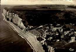 76-LES PETITES DALLES...VUE GENERALE AERIENNE DES FALAISES...CPSM GRAND FORMAT - Autres Communes