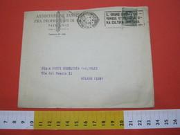 T1 ITALIA ANNULLO TARGHETTA - 1929 MILANO GRANO DIVENTI DOVUNQUE UNA CULTURA INTENSIVA BUSTA FASCIO PROPRIETARI DI CASE - Agriculture