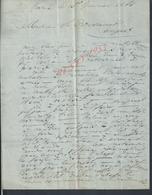 LETTRE COMMERCIALE DE 1866 ECRITE DE LORIENT A DESVARANNES FOURNISSEUR DE BOIS LA MARINE ANGERS : - Manuscrits