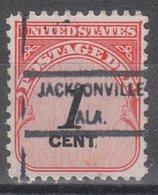 USA Precancel Vorausentwertung Preo, Locals Alabama, Jacksonsville 825 - Etats-Unis