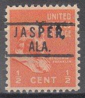 USA Precancel Vorausentwertung Preo, Locals Alabama, Jasper 801 - Etats-Unis