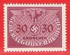 MiNr.7 Xx  Deutschland Besetzungsausgaben II. Weltkrieg Generalgouvernement Dienstmarken - Besetzungen 1938-45