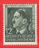MiNr.117 Xx Deutschland Besetzungsausgaben II. Weltkrieg Generalgouvernement - Besetzungen 1938-45