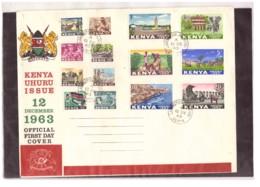 205   -    KENYA    /    FDC  Y&T. Nr.   1/14  ( SG. 1/14 ) - Kenia (1963-...)