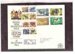 208   -    KENYA    /    FDC  Y&T. Nr.   20/31 - Kenia (1963-...)