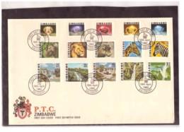 221   -    ZIMBABWE    /    FDC  Y&T. Nr.  1/14 - Zimbabwe (1980-...)