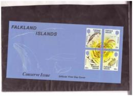 226   -    FALKLAND ISLANDS     /    FDC  Y&T. Nr.  428/431 + BF. 4 - Falkland
