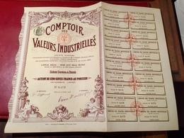 COMPTOIR  Des  VALEURS   INDUSTRIELLES ------  Action  De  500 Frs - Industrie