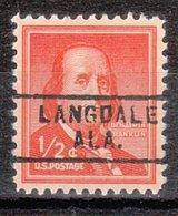 USA Precancel Vorausentwertung Preo, Locals Alabama, Langdale 729 - Etats-Unis