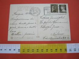 T1 ITALIA ANNULLO TARGHETTA - 1936 MILANO PRESTITO NAZIONALE RENDITA 5% CARD BIMBI AQUILONE - Seconda Guerra Mondiale