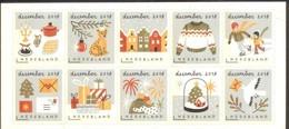 Nederland 2018  Kerstmis  Christmas  Weihnachten Noell Serie  Set       Postfris/mnh/sans Charniere - Period 1980-... (Beatrix)