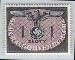 MiNr.13 Xx  Deutschland Besetzungsausgaben II. Weltkrieg Generalgouvernement Dienstmarken - Besetzungen 1938-45