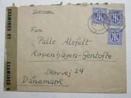 1946 , Brief Aus ADORF Mit Zensur Nach Dänemark - Bizone