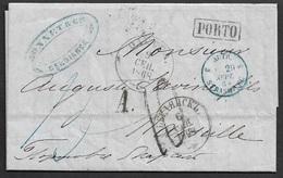 1868 - LAC - RUSSIA, BERDIANSK Over ODESSA And AUTRICHE To MARSEILLE - ...-1857 Prephilately