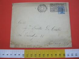 T1 ITALIA ANNULLO TARGHETTA - 1923 MILANO SPAZIO RISERVATO PUBBLICITA RIVOLGERSI UFFICI VIA VICARIO PT ROMA - Posta