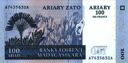 Madagascar 500 Francs = 100 Ariary 2004 P-86 UNC - Macedonia