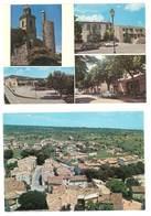 2 Cpsm Reillanne, Quartier Saint Joseph Et Le Cours / Multivues ( Citroën 2 CV, Ford Capri, Peugeot ) - France