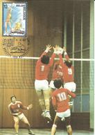 1987 Carte Championnats D'Europe De Volley-Ball ;Belgique - Volley-Ball
