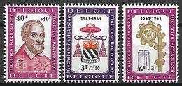 BELGIQUE     -  1961.   Y&T N° 1188 à 1190 *.  Oeuvres Culturelles.    Série Complète. - Ongebruikt