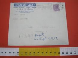 T1 ITALIA ANNULLO TARGHETTA - 1959 GENOVA PT PER IMPOSTARE NO ORE SERALI BUSTA FOTOPLEX FOTOGRAFIE PER LAPIDI - Posta