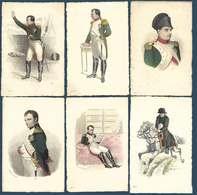 Lot De 6 Cartes Postales - Napoleon - Stahlstich Portrait Galerie - Série 26Série - Personnages