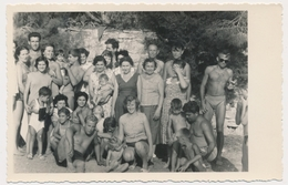 REAL PHOTO, Beach Group Trunks Muscle Guy Men Woman And Kids, Hommes Femme Enfants  Plage, ORIGINAL - Photographs