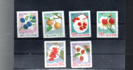 COREE DU NORD 731/736** SUR LES FRUITS SAUVAGES - Corée Du Nord