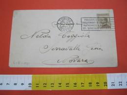T1 ITALIA ANNULLO TARGHETTA - 1921 TORINO PT PREGATE I VOSTRI CORRISPONDENTI DI AGGIUNGERE INDIRIZZO QUARTIERE POSTALE - Posta