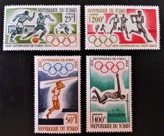 JEUX OLYMPIQUES DE TOKYO 1964 - NEUFS * - YT PA 18/21 - MI 120/23 - Tchad (1960-...)