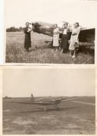 Lot De 4 Photographies Du Zlin Z-XII F-AQIJ, Baptême De L'air Lors Du Pèlerinage De L'aviation à Lourdes (65), 1938 - Aviation