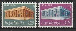 MiNr. 1361 - 1362  Jugoslawien  / 1969, 20. Dez. Europa. - 1945-1992 Socialist Federal Republic Of Yugoslavia