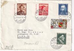 SUISSE 1941 LETTRE CENSUREE DE ZURICH POUR WIEN - Briefe U. Dokumente