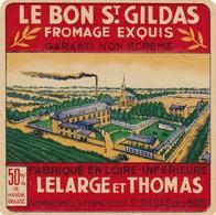 ETIQUETTE FROMAGE CARRE DE L'OUEST -  LE BON ST-GILDAS -   Fab En LOIRE INFERIEURE  44 - Cheese