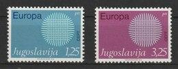 MiNr. 1379 - 1380 Jugoslawien  / 1970, 4. Mai. Europa. - 1945-1992 Sozialistische Föderative Republik Jugoslawien