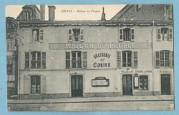 F0134b  CPA   EPINAL  (Vosges)  Maison Du Peuple  -  BRASSERIE DU COURS  -  LIBRAIRIE DU TRAVAIL  ++++++ - Epinal