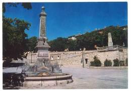 Cpsm Reillanne - La Fontaine Et Le Monument Aux Morts - France