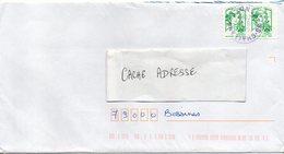 2018-- Lettre De CHALLANS-85 Pour BESSINES-79-Marianne Ciappa Kavena Adhésifs  X 2--cachet Rond - Marcophilie (Lettres)