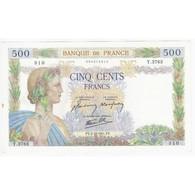 FAY 32/22 - 500 FRANCS LA PAIX - 02/10/1941 - TACHE SINON SUPERBE - PICK 95 - - 1871-1952 Circulated During XXth