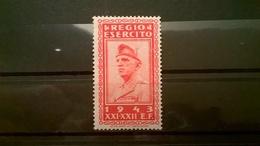 FRANCOBOLLI STAMPS ITALIA ITALY REGNO 1943 MNH NUOVI MARCA PERMESSO MILITARE REGIO ESERCITO ERINNOFILIA VITT. EMAN. III - 1900-44 Victor Emmanuel III.